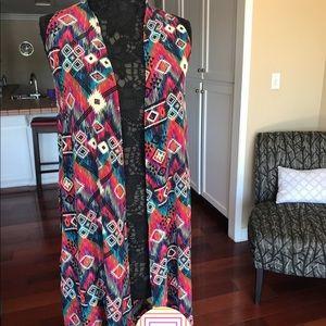 LuLaRoe Joy sleeveless long cardigan